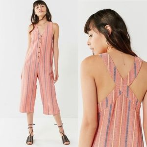 •Urban Outfitters• Jordan Cropped Midi Jumpsuit